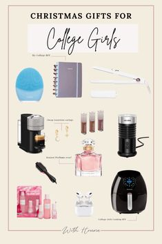 12 Insanely Good Christmas Gift Ideas for College Girls they want to Have This Year - With Houna All Colleges, College Student Gifts, Girl Cooking, College Hacks, Boyfriend Gifts, Bff, Best Gifts, Christmas Gifts, Perfume