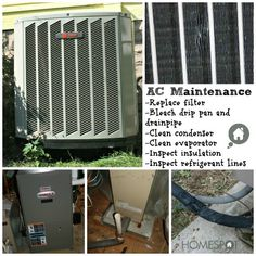 Maintain the AC every spring to reduce energy costs and prolong the life of the unit.