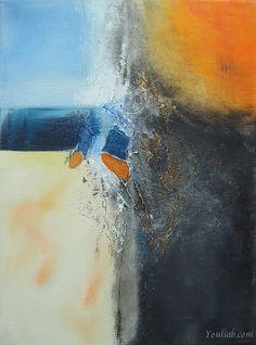 Caractère Peinture abstraite contemporaine 40x30 cm par YouliaB, €190.00