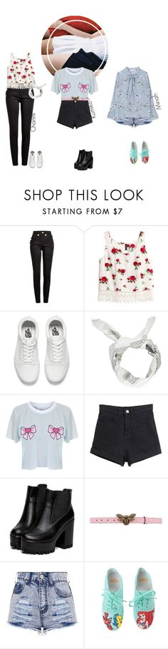 """""""SCC on Weekly Idol"""" by doll-anons ❤ liked on Polyvore featuring Balmain, H&M, Vans, Boohoo, Local Heroes, Gucci and Hot Topic"""