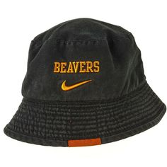the best attitude 774ae 129c7 Team Nike Oregon State Beavers Bucket Hat Size L XL Adult Black Embroidered