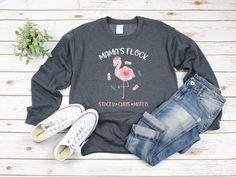 Cute Mom Sweatshirt/ Custom Flamingo Gift/ Mama Flamingo/ | Etsy Cute Sweatshirts, Hooded Sweatshirts, Cute Christmas Shirts, Christmas Gifts, Merry Christmas, Crew Neck Sweatshirt, Pullover, Hoodie, Personalized Gifts For Mom