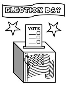 coloring pages election - photo#28