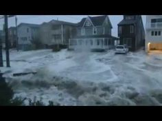 ▶ Hurricane Sandy waves between houses, Ocean City, NJ - 10/29/2012 - YouTube