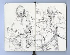 This is his sketch book...check out his work..