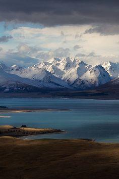 Godly Peaks Road, Lake Tekapo New Zealand by ZacRobinson