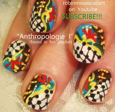 Nail-art by Robin Moses ROOSTER kitsch http://www.youtube.com/watch?v=ensktVwca_E