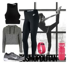 """""""Sport leggings"""" by salstan ❤ liked on Polyvore featuring adidas, NIKE, Topshop, T By Alexander Wang, Fitbit, Leggings and WardrobeStaples"""