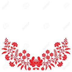 hungarian embroidery patterns Hungarian folk red floral pattern - Kalocsai embroidery with flowers and paprika Stock Vector - 43127202 - - Millions of Creative Stock Photos, Vectors, Videos and Music Files For Your Inspiration and Projects. Hungarian Tattoo, Hungarian Embroidery, Folk Embroidery, Learn Embroidery, Floral Embroidery, Chain Stitch Embroidery, Embroidery Tattoo, Embroidery Stitches, Embroidery Patterns