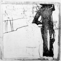 Sabine Kinder Urbanes I - Frottage und Zeichnung unter Wachs, 09/2012