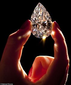 Dubbed the world's #largest '#flawless' #diamond of its type - World's largest D colorless diamond at 101.73 carat. The diamond was carved from a 236-carat rough diamond found in Jwaneng Mine in Botswana.