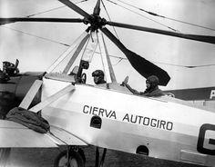 Juan de la Cierva y su autogiro, 1923.