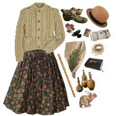 Dry earth and falling leaves., created by melissalackey on Polyvore