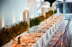 New Museum Client Dinner by Garin Baura where our Victoria Ghost Chairs were used to create a sunset dinner.