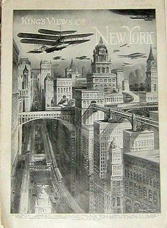 Kings View of New York. Publication cover. 1911.