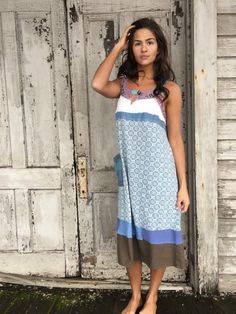 Delia dress-xsmall small-artsy-Eco Clothing-Upcycled by lovehigher