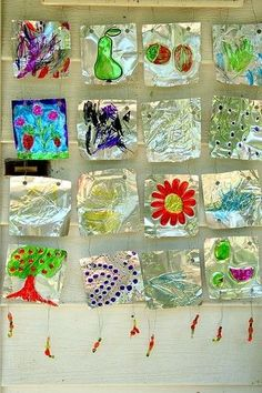 Aluminum foil and sharpies! Sometimes the best result comes from the simplest medium...especially with kids by darla