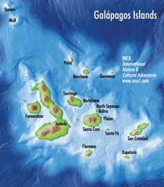 Map of Galapagos.  This was a trip of a lifetime.  I'll never forget this special place.
