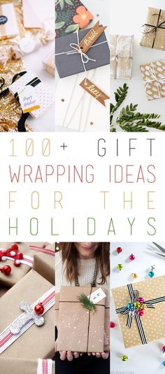 Over 100+ Gift Wrapping Ideas For The Holidays that will inspire you! Come and join the fun and add your favorite to the list!