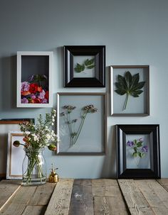 Prolong the greenery of summer and get a lasting memory no matter what the season by pressing flowers! IKEA has a great selection of frames and display boxes for creating beautiful pressed flower still lifes.