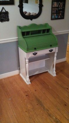 roll top desk milk paint | Roll Top Desk