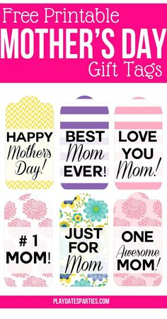 6 Awesome Printable Mother's Day Gift Tags for You Looking for some inspiration or ideas for this upcoming Mother; Decor, food, favors, gifts, a Mothers Day Baskets, Mothers Day Decor, Mother's Day Gift Baskets, Mothers Day Gifts From Daughter, Mothers Day Crafts For Kids, Mothers Day Flowers, Mothers Day Cards, Mother Day Gifts, Happy Mothers Day