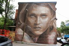 by RONE - New mural for Mural Street Art Festival - Montreal, Canada - 15.06.2014