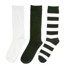 Green + White 3-Pack Crew Socks #NFL #Jets #Michigan #Spartans