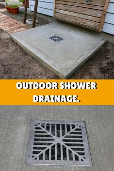 Simple Drainage Solution for DIY Outdoor Shower