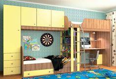 """Vitamin Z Набор мебели для детской  Детская Витамин-Z- это современная недорогая детскаямебель для подростков мальчика и девочки. Создайте уютную обстановку в детской подростковой комнате.       Большой комплекс, включающий все необходимые элементы для удобства ваших детей: письменный стол, двухъярусную кровать с удобной лесенкой, открытый стеллаж и множество закрытых полок и ящиков. Набор детской мебели """"Витамин Z"""" - это необыкновенное оформление интерьера детской комнаты…"""