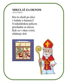 Mikuláš, Zvyky a tradície, MŠ Advent, Ms, Santa, Education, Comics, Christmas, Xmas, Navidad, Cartoons