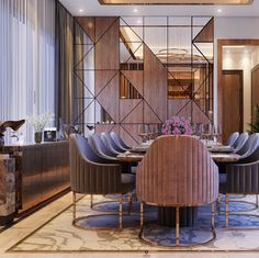 Living Room Partition Design, Room Partition Designs, Home Room Design, Dining Room Design, Living Tv, Luxury Dining Room, Apartment Interior Design, Villa, Behance