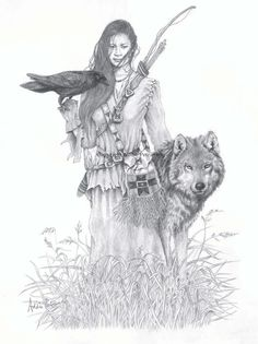 Raven and Wolf by Addie Petravich