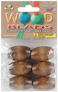 Wood 179274: Pepperell Pwb3222-01 Oval Wood Beads 32Mmx22mm 6/Pkg - Walnut -> BUY IT NOW ONLY: $50.32 on eBay!