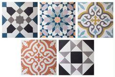 Collection Traditionnels, réalisable sur mesure dans les coloris de votre choix, tailles : 20x20 cm & 15x15 cm, rectangles 10 x 20 cm, hexagones et octogones, à partir de 100,80 euros le m2, Ateliers ZELIJ.