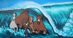 austin // texas // mural art // guadalupe street:  old trafton tile building horses
