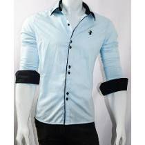 c3b9e4cbb2 Camisa Social Slim Fit Masculina Fabricação Pronta Entrega