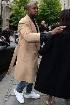 #KanyeWest wearing #adidas Originals Stan Smith