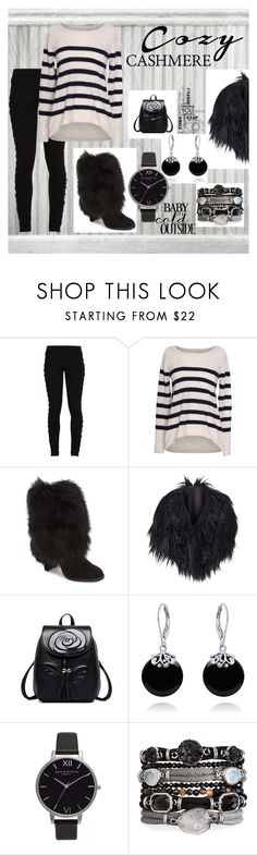"""""""Cashmere Trend"""" by giselsimon ❤ liked on Polyvore featuring Puma, Velvet by Graham & Spencer, Stuart Weitzman, Bling Jewelry and Olivia Burton"""