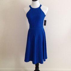 Cobalt Blue Alfani shore lines dress Cobalt Blue Alfani shore lines dress. This dress has a super sexy look and formal look. Alfani Dresses Midi