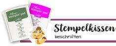 Kleines Video zur Beschriftung von stampin up blog stempelkissen
