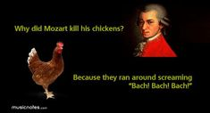 mozart funny | Musical Jokes via www.Musicnotes.com. Download sheet music. Instant ...