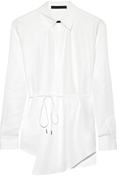Karl Lagerfeld Nola poplin wrap shirt NET-A-PORTER.COM