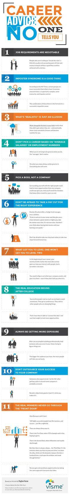 Career Advice No One Tells You — Life Learning — Medium