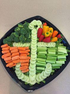 Nautical/sea theme veggie tray