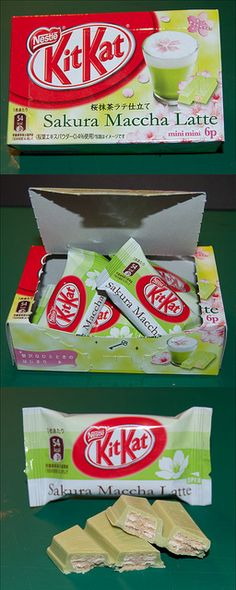 Sakura Maccha Latte Kit Kat - Japan by kalvin1974, via Flickr
