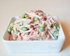 Parížsky šalát Slovak Recipes, Russian Recipes, Salad Dressing, Finger Foods, Pasta Salad, Potato Salad, Salad Recipes, Sandwiches, Food And Drink