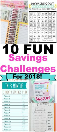 The Top 10 Most FUN Savings Challenges for 2018!