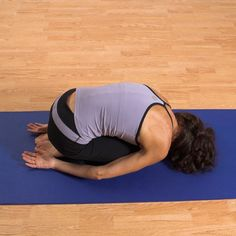 "Before-Bed Yoga Sequence. ""I tried this. Amazing how much tension left my body!"""