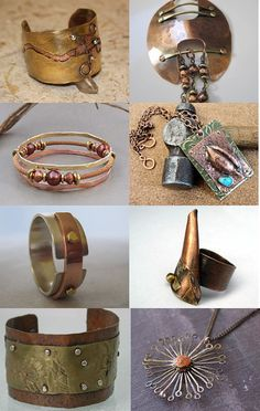 Mighty Copper and Brass ! by Elaine Marie on Etsy featuring ZaZing --Pinned with TreasuryPin.com